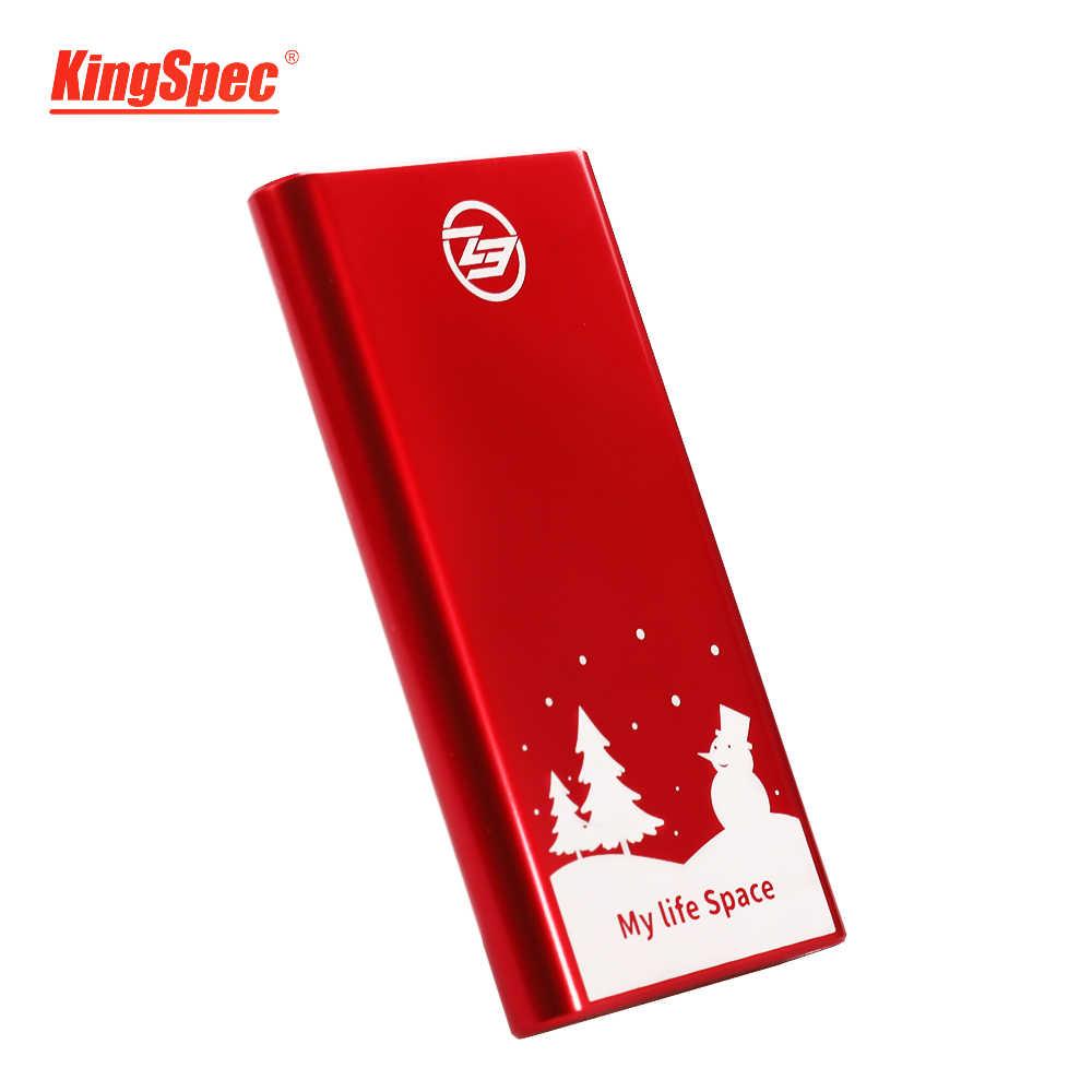 KingSpec портативный SSD Внешний жесткий диск 1 ТБ 120GB 240GB 512GB type-c USB 3,1 внешний SSD 1 ТБ HDD для портативных ПК на Рождество