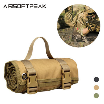 цена на Tactical Shooting Mat Roll-up Waterproof Lightweight Nylon Cloth Military Padded Hunting Gun Pad Accessories Rifle Gun Shotgun