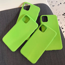 Fashion Simple Fluorescent Green Case For iPhone