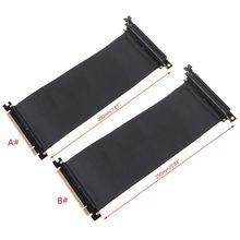 PCI Express PCIe3.0 16X to 16X 유연한 케이블 어댑터 90도 각도 라이저 카드
