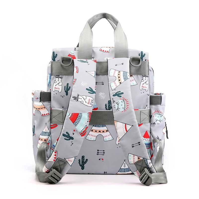Waterproof Nylon Diaper Bag Fashion Baby Nursing Shoulder Bag Multi-functional Handbag Large Capacity Backpack  Nappy Bag