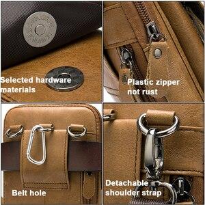 Image 5 - MVA Genuine Leather Mens Shoulder Bags For Men Crossbody Bags Male Messenger Bag Men Leather Handbag Phone Bags Mens Small 899