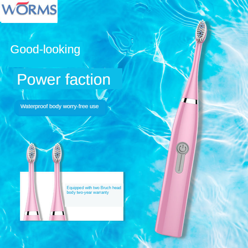 Electric Toothbrush Men and Women Adult Children Non-Rechargeable Sonic Vibration Toothbrush Couples Travel Home Whitening Teeth