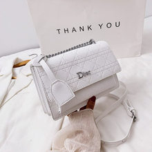 2021 New Lingge Chain Small Square Bag Korean Version Women's Fashion Sense Versatile Single Shoulder Bag