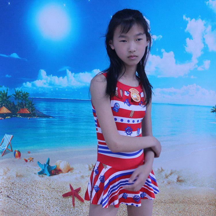Girl'S Swimsuit One-piece Princess Dress-Swimwear Big Boy Baby Swim Bathing Suit