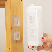 Double-Sided Adhesive Wall Hooks Hanger Strong Transparent Hooks Suction Cup Sucker Wall