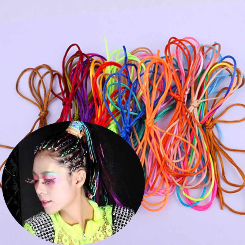 5pcs หญิงหญิงโบฮีเมียถักแถบคาดศีรษะอุปกรณ์เสริมผมทำด้วยมือริบบิ้นเชือกผมถัก Headdres
