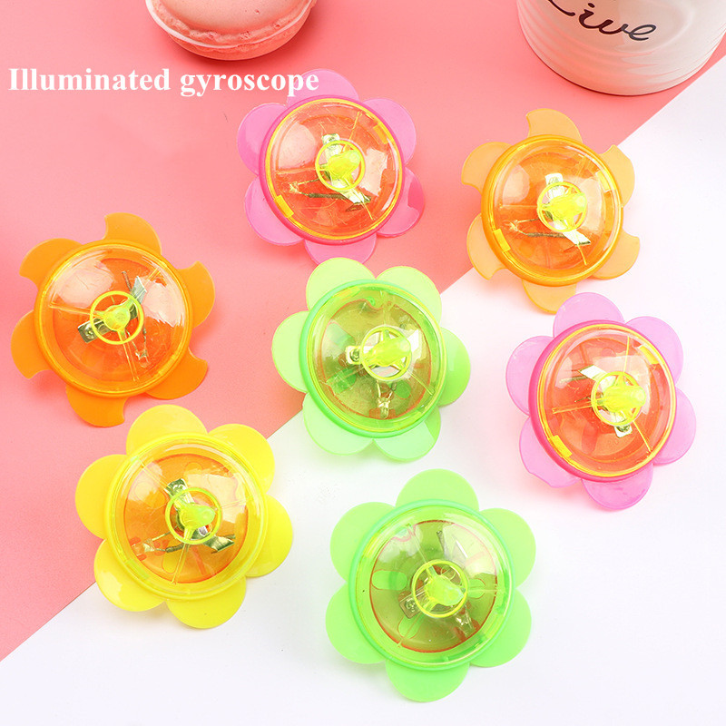 3pcs Novelty  Luminous Rotating Gyro Children's Party Toys For Kids Play Glow In The Dark Birthday Christmas Present For Kids