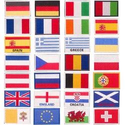 Łatka haftowana odznaki flagi narodowej różnych krajów  łatka do prasowania w wysokiej temperaturze używana do dekoracji ubrań 8*5cm Łatki    -