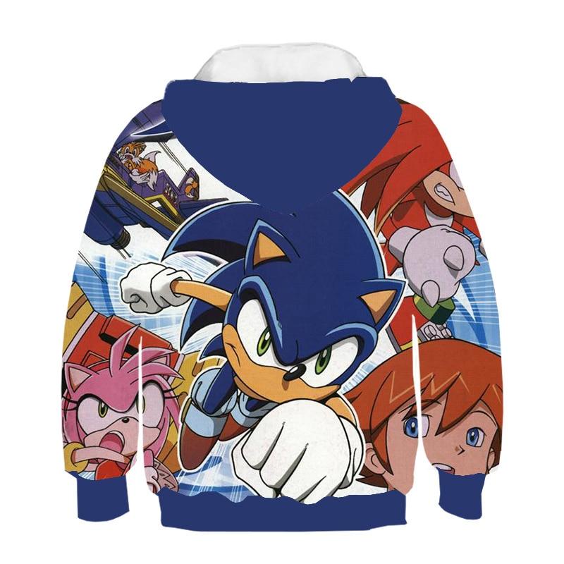 Kids Set Anime Super Sonic Hedgehog 3d Hoodies Zipper Pullover Baby Cartoon Sweatshirt Tracksuit Pants Family T Shirt Shorts 3 Hoodies Sweatshirts Aliexpress