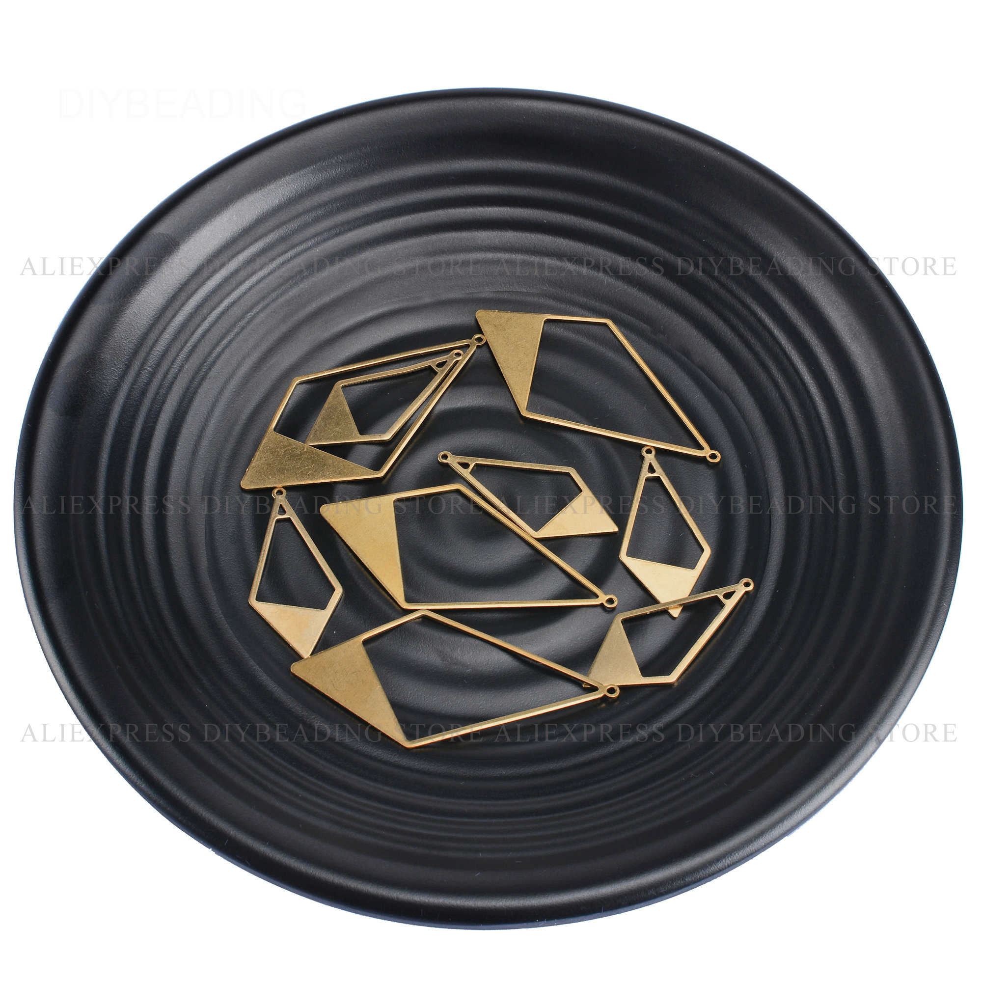 10-500 Pcs Large Size Brass Rhombus Geometric Finding Component Material For Women Earring Making Bulk Supplies (2 Sizes)