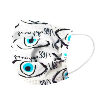 10pcs Adult Disposable Masks 3 Layers Fashion Design Eyes Printed Face Mask Breathable Outdoor Safety Masker Masque Mascarilla
