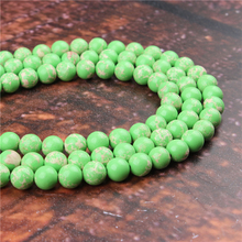 Fashion Emperor Green  Round Beads Loose Jewelry Stone 4/6/8/10 / 12mm Suitable For Making Jewelry DIY Bracelet Necklace