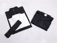 Hakama Martial Arts Apanese Kendo Laido Aikido Hapkido Hakama Martial Arts Uniform Kendogi+Hakama+underwear+belt) black And Blue