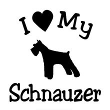 Köpek araba çıkartmaları komik şal vinil aşk Schnauzer hem vücut filmi oto Styling arabalar bavul Kk 15x15cm