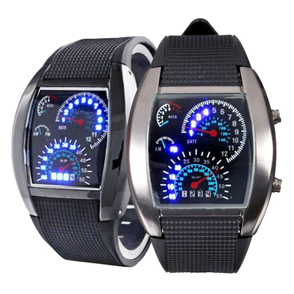 Men Fashine LED Outdoor Silicone Band Date Display Sports Electronic Wrist Watch