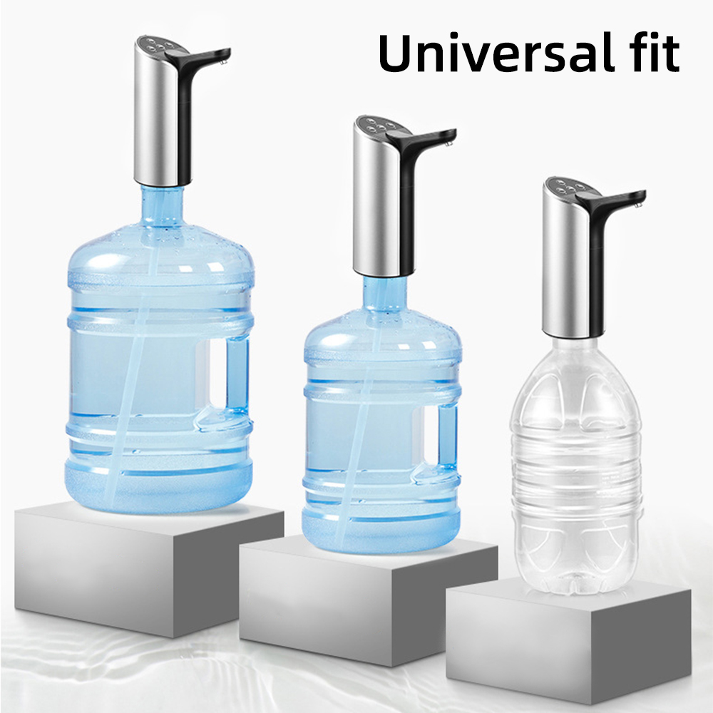 Sterile Portable Electronic Drinking Water Bottle Pump USB Charging Water Dispenser Outdoor Home Universal Type 12.5x17cm