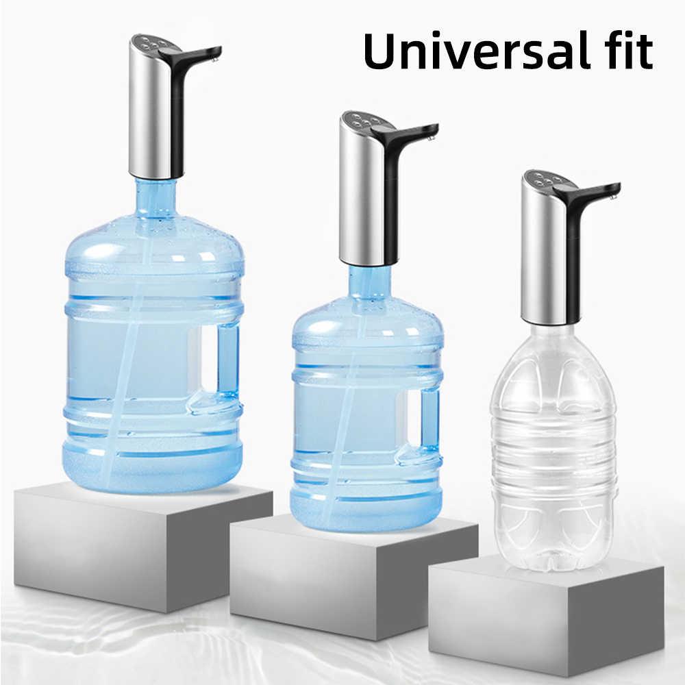 العقيمة المحمولة الإلكترونية زجاجة مياه الشرب مضخة USB شحن موزع مياه في الهواء الطلق المنزل العالمي نوع 12.5x17cm