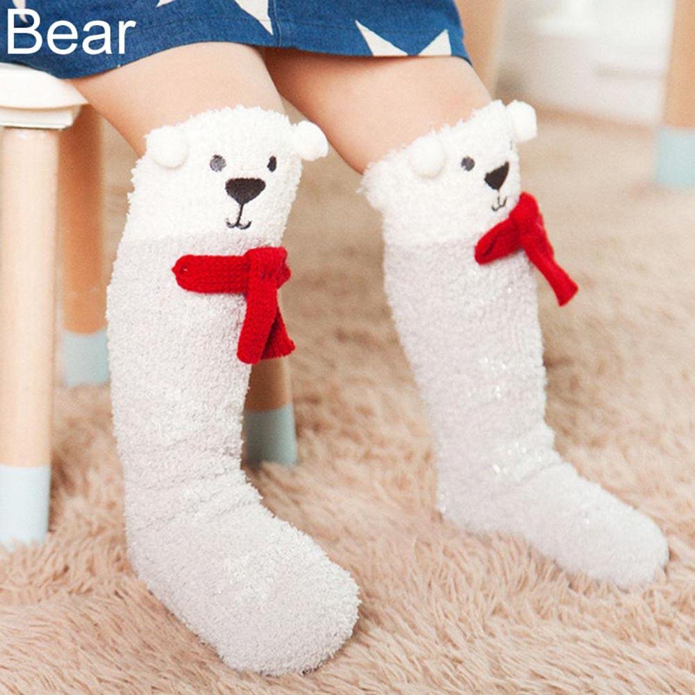 Cute Cartoon Baby Toddler Girls Boys Leg Warmer Knee High Floor Stockings New