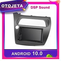 Frame android 10.0 dvd player car radio for Honda Civic Hatchback 2006 2011 left Car GPS bluetooth stereo multimedia Navigation