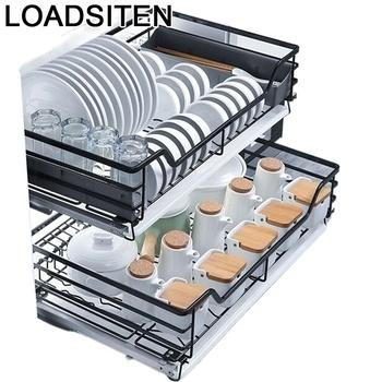 Spiżarnia Accesorios organizator Para Armario Keuken szuflada do kuchni ze stali nierdzewnej Cocina Cozinha szafka kuchenna kosz tanie i dobre opinie LOADSITEN CN (pochodzenie) Metal
