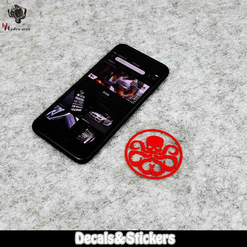 Tidak, L007 Perisai Hydra Lencana Tengkorak 3M Reflektif Stiker Moto GP Mobil Stiker Decals Balap Sepeda Motor