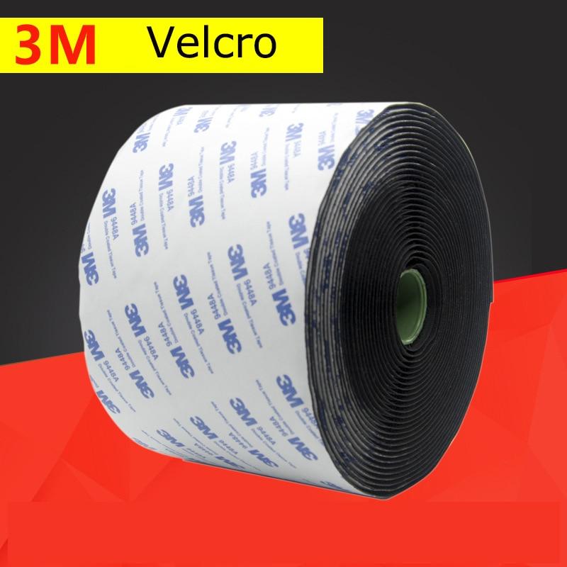 5m/pair of strong self-adhesive hook and loop buckle strap Velcro sticker Velcro fastener strap 20/25/30/38/50/100mmDIY glue