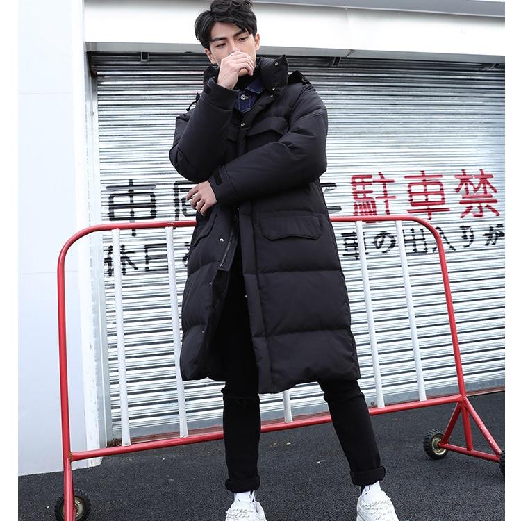 Plus Size Winter Coat Men Brand Warm 90% Duck Down Jacket 2019 Korean Long Thick Down Coat Parkas Hiver Overcoat 981071