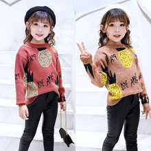Get more info on the Autumn Winter Children's Clothing Cartoon Pinapple Knitted Pullover Sweaters Kids Baby Girl Sweaters Tops 4 5 7 9 11 13 Years