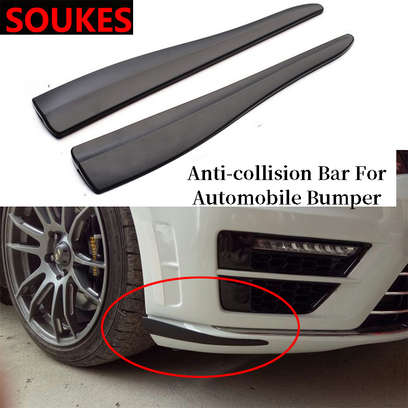 Carbon Car Bumper Anti-Scratch Strips Stickers For <font><b>Mercedes</b></font> W203 W211 W204 <font><b>W210</b></font> <font><b>Benz</b></font> BMW F10 E34 E30 F20 X5 E70 <font><b>Accessories</b></font> image