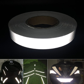 Safety Reflective Tape Highly Visible Band Polyester Chemical fiber DIY Self-adhesive Stripe  width 2/2.5/3/4/5cm