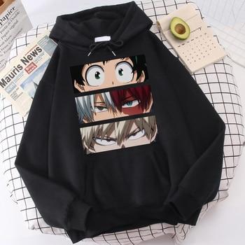 My Hero Academia Hoodies Men's Casual Fashion Sweatshirts Japanese Cartoon Loose Hoodie Comfortable Creativity Streetwear Male 1