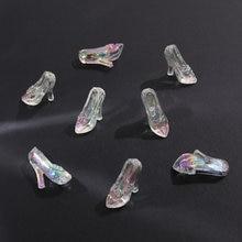 6 шт. обувь Золушки с кристаллами, Волшебная фотоакриловая подвеска, сделай сам, украшение ручной работы, серьги, аксессуары, материал