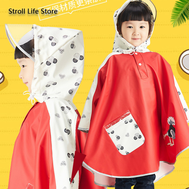 Long Rain Coat Kids Poncho Yellow Girls Cute Children Raincoat Rain Boots Waterproof Suit Rainwear Capa De Chuva Birthday Gift
