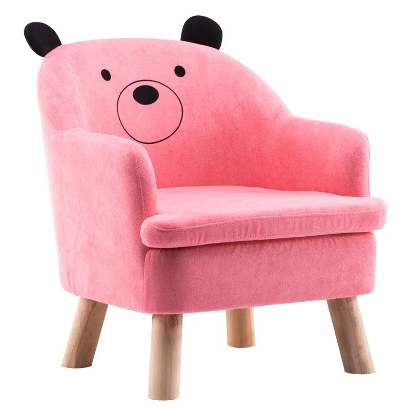 Nordic Baby Furniture Lovery Small Sofa For Kids Boy And Girl Bedroom Cute Lazy Cartoon Sofa Chair Removable Washing Cover