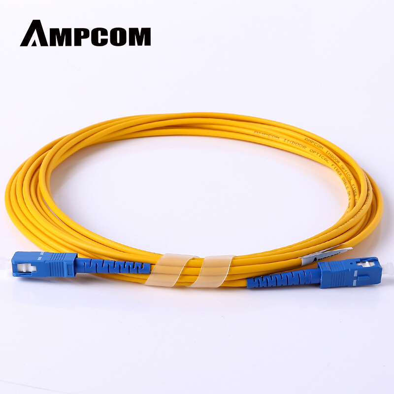 AMPCOM SC SC Fiber Patch Cable Simplex 9/125 SC/UPC To SC/UPC Singlemode Jumper Single Mode Patch-Cord Sc/sc SMF