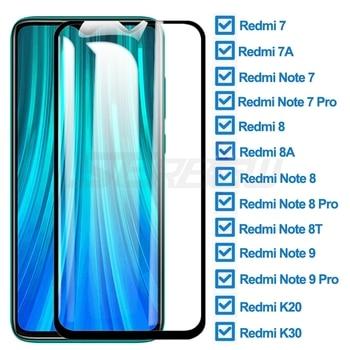 100D vidro de proteção para xiaomi redmi 7 7a 8 8a k20 k30 protetor de tela para nota redmi 7 8 9 pro 8 t filme de vidro de segurança temperado