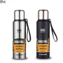 VILE Large Capacity Stainless Steel Thermos Portable Vacuum Flask Insulated Tumbler with Rope Thermo Bottle 500/700/1000/1500ml