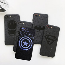 Retro marvel capitão américa caso para iphone 7 6 11 xr 6s 8 plus homem de ferro silicone tpu caso para iphone xr x xs 11 pro max coque(China)