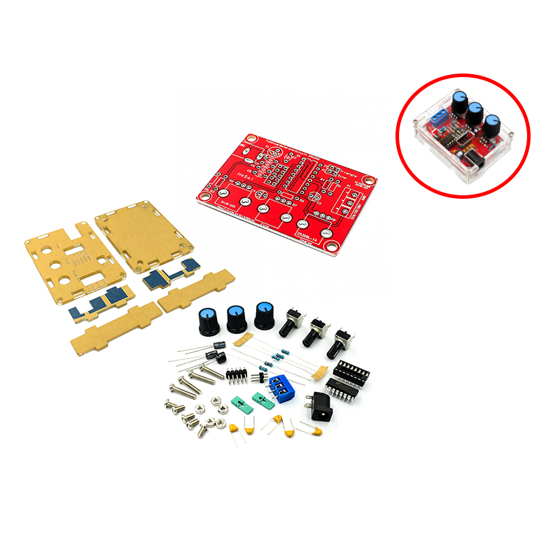Функциональный генератор сигналов DIY Kit синус/треугольник/квадратный выход 1 Гц-1 МГц генератор сигналов Регулируемая амплитуда частоты XR2206
