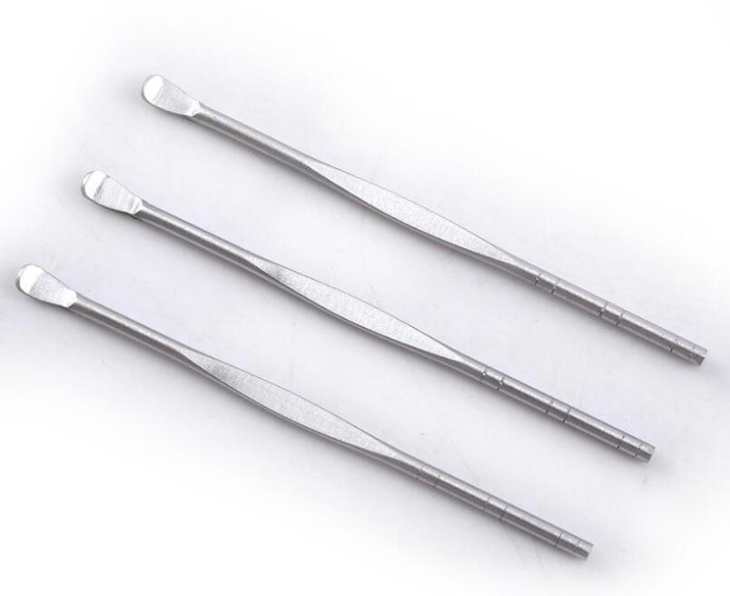 Ear Health Care Tool Ear Pick Earpick Spoon Stainless Steel Ear Wax Curette Remover Free Shipping SN486