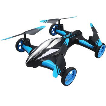 LED rc helicopter Remote control aircraft four-axis land-air dual-mode aircraft one-key return rolling remote control drone toys
