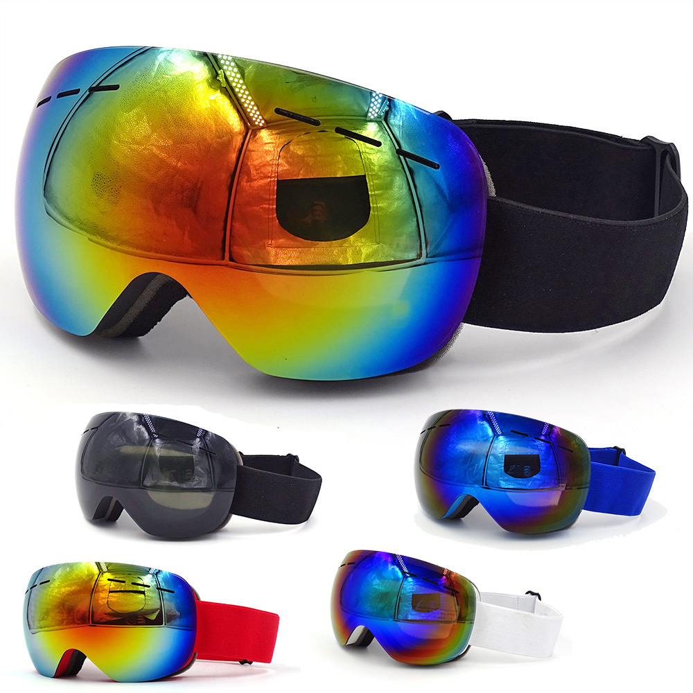 Skiing Eyewear Double Layers Ski Goggles UV400 Anti Fog Ski Mask Case Men Women Winter Snowboard Glasses Snowboarding Snowmobile