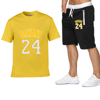 2020 new Pocket zip pants set 2 Pieces men Sets hot Basketball clothing print men set Fitness Summer Men Shorts T shirt Men set 16