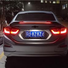 For 2017 2018 Cruze Spoiler ABS Material Car Rear Wing Primer Color Rear Spoiler For Chevrolet Cruze LED Spoiler for toyota yaris yarisl spoiler abs material car rear wing primer color rear spoiler for toyota yaris l spoiler 2014 2017