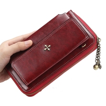 Four-leaf clover Women's Wallets High Capacity Long Wallet Female Design Pocket Purse Women Coin Purses Lady Clutch Card Holder new arrival women wallets high quality female long purse lattice women s coin wallet lady clutch cell phone pocket big promotion