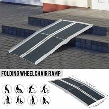 Rampa de carga antideslizante perforada para coche, rampa de descarga para remolque, silla de ruedas, 4 pies