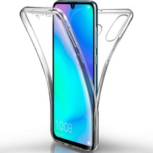 Depan Belakang Full Body Case untuk Huawei Y5 Y6 Prime Y7 2019 P Smart 2019 P10 P20 P30 Mate 20 pro Honor 8S 10 Lite 360 Lembut Bening(China)