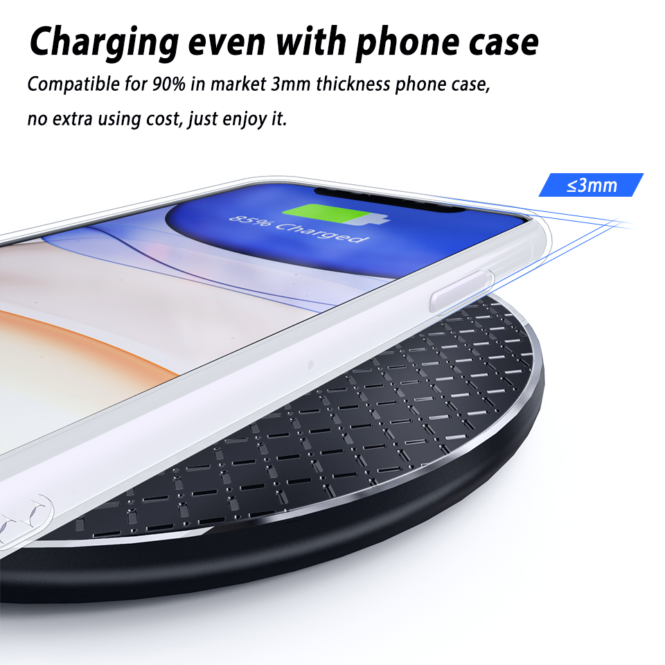 Led Qi Wireless Charger Phone Charging Pad Stand for Nokia 9 PureView Doogee S95 S90 Pro S80 S70 Lite S68 Pro BL9000 Leagoo S10