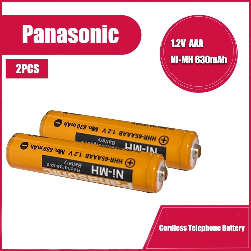 Аккумуляторы Panasonic Ni-MH, 1,2 в, 630 мАч, 2 шт./лот